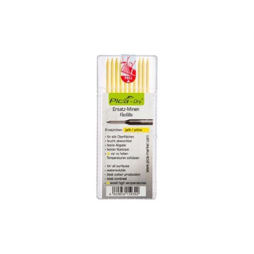 Pica Dry Pen REFILL Yellow pk10 4032